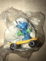 Smurfs Hardees Surfin Smurf Innertube Yellow Skateboard Vintage Figure PVC Toy