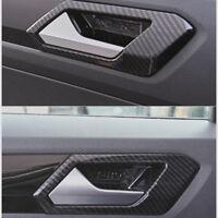 4 x Innerer Türgriff Abdeckung Carbon Fiber Style For VOLKSWAGEN T-ROC 2017-18