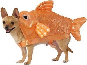 Goldfish Dog Costume - MEDIUM - Straps - Orange Shimmer - Halloween - Rubies NWT