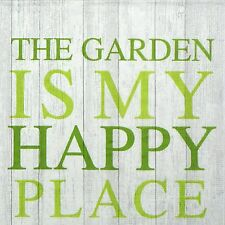 4x Happy Garden Paper Napkins for Decoupage Decopatch Craft