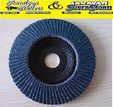 "1x 5"" 125mm flapper grinding Metal Sanding disc Wheel 22mm Bore CO11"