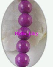 2 Strands Dark purple dyed jade beads Round 8mm M1846