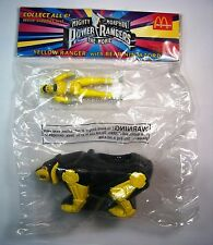 1994 McDonalds Power Rangers Yellow Ranger w/Bear Ninjazord Sealed Prem MIP C10!