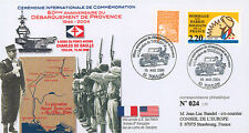 """FDC """"60 ans Débarquement en Provence - Jeep Willys / WWII"""" (Toulon) 2004"""