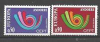 Andorre Français 1973 Yvert n° 226 et 227 neuf ** 1er choix