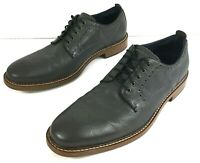 Cole Haan Kennedy Grand Medallion Oxford Shoes Gray Leather Mens Size 10.5 M