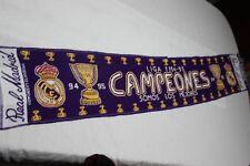 BUFANDA DEL REAL MADRID COMO CAMPEONES DE LIGA 1994-95  MUY COTIZADA  SCARF