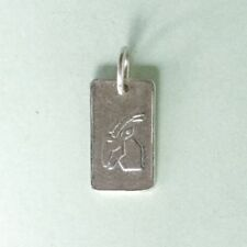 GOAT CAPRICORN Zodiac sign - 1.4cm long  - 925 sterling silver charm pendant