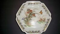 OTAGIRI JAPAN PLATE HEXAGONAL BIRDS WITH GOLD TONE ACCENTS 7 1/2''