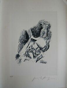 Pericle Fazzini litografia Figura 76x57 firmata numerata 35/90 arabi