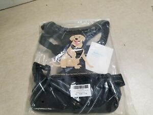 Rabbitgoo Dog Harness No-Pull Pet Control Adjustable Collar Soft Vest, Black, XL