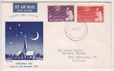 Stamps Australia 1957 Christmas pair on Guthrie specific cachet FDC addressed