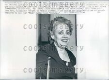 1961 White House Maid & Seamstress Lillian Rogers Parks Press Photo