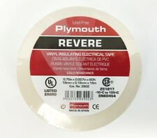 """Plymouth Rubber 3902 Revere White 7 Mil Vinyl Electrical Tape 3/4"""" x 60' - Spain"""