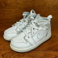 Nike Air Jordan 1 Mid (Toddler Size 7C) Retro Basketball Sneaker Shoes White