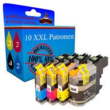 10 Drucker Patronen für Brother MFC-J6920 DW MFC-J650 DW MFC-J870 DW MFC-J875 DW