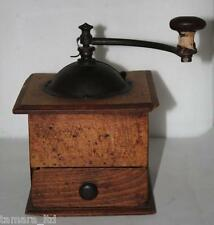 Antique Vintage French  Iron and Wood  Large  coffee grinder # PL-780 #