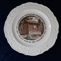 CP Co Canonsburg Pottery Plate Wall Decor Sesquicentennial 1952 First College