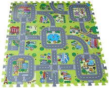 Spielmatte 9tlg Spielteppich Puzzlematte Verkehr Kinderteppich Matte Schutzmatte