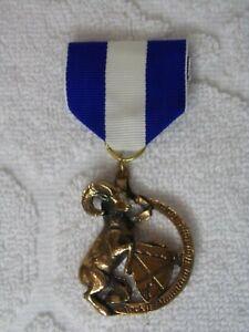 Highland Games Medal blue white ribbon Rocky Mountain Bighorn Sheep Colorado