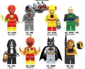 Passt LEGO Justice League Minifiguren DC-Superheld Bausteine Flash Cyborg Lobo