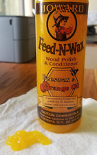 Howard Products Feed N Wax Wood Conditioner Beeswax Orange Oil FW0016 16oz