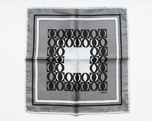 Tom Ford New Shades of Gray Black Geometric Pattern 100% Silk Pocket Square