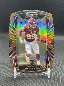 2020 Panini Select Chase Young Bronze Die-Cut /355 #264 Football Team MS1