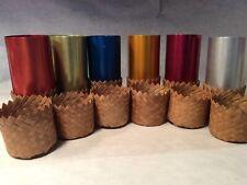 Vintage Set of 6 Perma Hues Edgerton Ohio Color Aluminum Tumblers