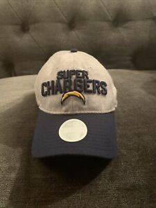Los Angeles Chargers New Era NFL Women Grey Blue Hat Cap Adjustable Fit!! New!!
