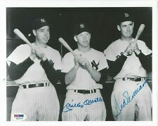 MICKEY MANTLE & TED WILLIAMS PSA/DNA CERTIFIED SIGNED 8X10 PHOTOGRAPH AUTOGRAPH