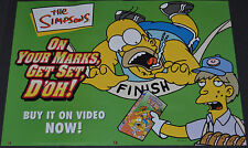 THE SIMPSONS 2000 ORIGINAL 23x16 BRITISH VIDEO RELEASE POSTER! HOMER SIMPSON!!