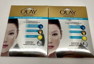 2 Packs Olay Magnemasks Advanced Brightening Sheet Mask