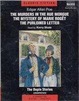 Edgar Allan Poe Dupin Stories Murders In Rue Morgue 4 Cassette Audio Book