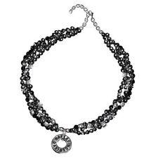 D4J8937 harley davidson ladies woman's black onyx necklace by the franklin mint