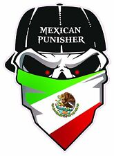 """Mexican Punisher Decal Large 10"""""""