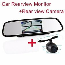 """4.3"""" Screen TFT best Car LCD Rear View Rearview DVD Mirror Monitor+backup camera"""