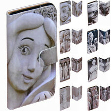 For HTC Series Mobile Phone Stone Sculpture Theme Print Wallet Phone Case Cover