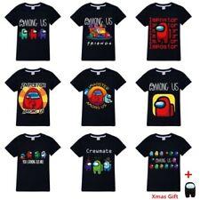Hot Boys Girls Among Us Gamer Short Sleeve T-Shirt Impostor Tops Tee Xmas Gifts