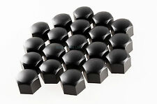 Set of 20 17mm Car ABS Plastic Caps Bolts Covers Nuts Alloy Wheel Black
