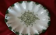Vestal Hand-Painted Alcobaca European PORTUGUESE Art Pottery #37 green floral
