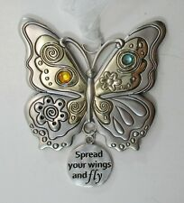 K Spread your wings and fly butterfly Happy Thoughts Ornament