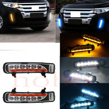 2x For Ford Edge 11-12 Front Bumper White+Ice-Blue+Yellow Fog Light Driving Lamp