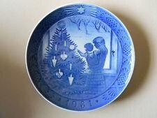 Royal Copenhagen Collector Plate Admiring The Christmas Tree 1981
