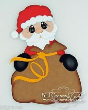 CraftEcafe Premade Scrapbook Paper Piece Die Cut Santa Christmas BLJgraves 30
