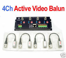 4 Channel Active Video Balun BNC over UTP Cat5 Cat6 Cable 1200M for CCTV Camera