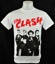 The Clash indy Rock punk White crew tee 100% soft cottonT-shirt Size M