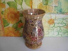 Deko Mosaik Windlichthalter Kerzenständer Teelicht Halter Glas Neu