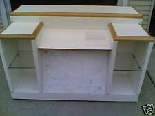 Used Store Fixture: Nice Mobile Customer Service Desk w/ Display Glass Shelves