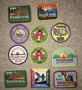 Boy Scouts Lot Of 11 Trails End Popcorn Patches RC1